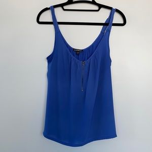 Express Blue Camisole with Zipper